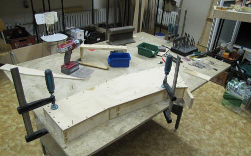 Stavba sst. Brod - atypický tvarový díl