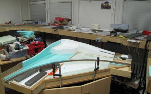 Rok 2012 - Začátek stavby podkladu krajiny