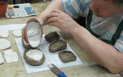 Odlévání skal - lití sádry
