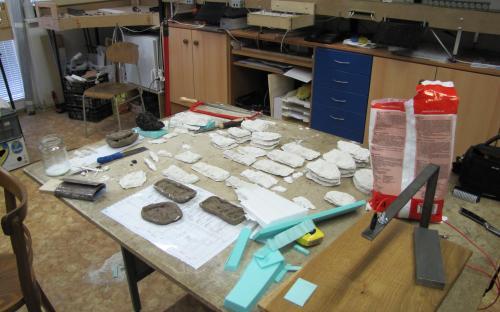 Odlévání skal - hotové odlitky