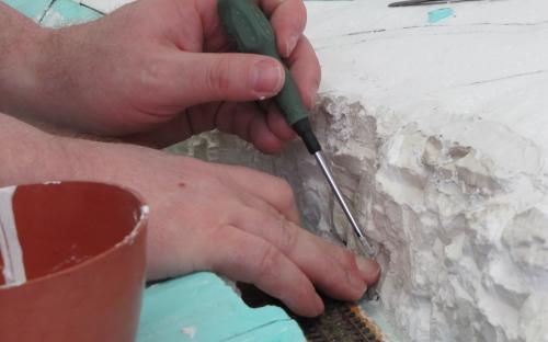 Úpravy vlepených skal v krajině