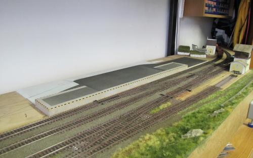 Výstavba rampy v Ledči