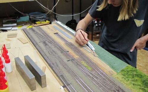Dokončení modelové zdi u vodárny