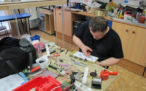 Stavba elektrické části ovládání