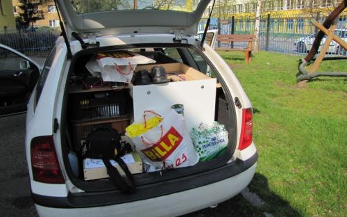 Transport sanice na setkání klubu Zababov