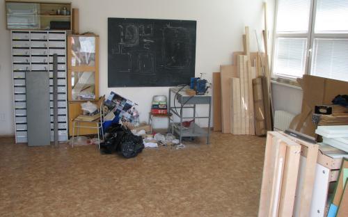 Naše nová pracovna po nastěhování v červenci 2008