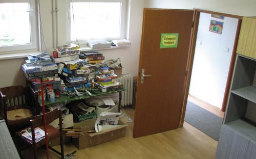 Původně přidělená místnost pro KŽM - nyní po nastěhování plastikových modelářů