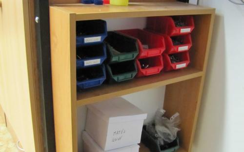Nová skříňka pro ukládání šroubů a drobného materiálu