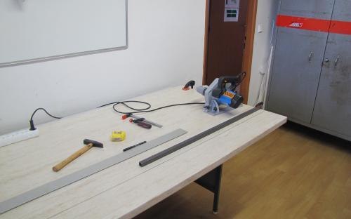 Příprava na ořez pracovní desky