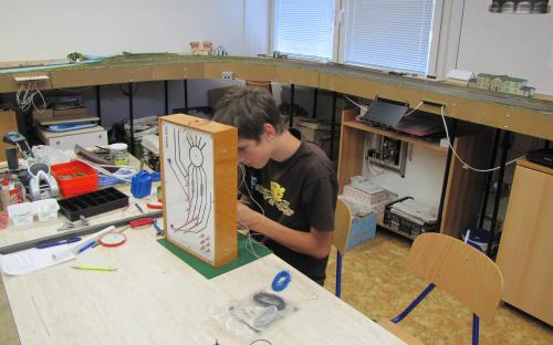 Elektrické práce na ovládacím panelu depa - 2016