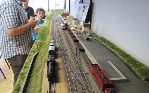 Manipulační vlak při posunu v Ledči