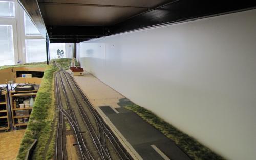 Nové pozadí za stanici Ledeč po namontování a vložení stanice Ledeč