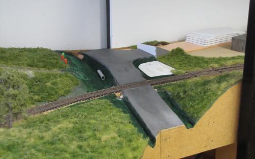Stavba silnice v okolí Ledče
