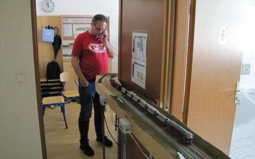Telefonická obsluha prozatímního konce dvoukolejky Světlá - Brod