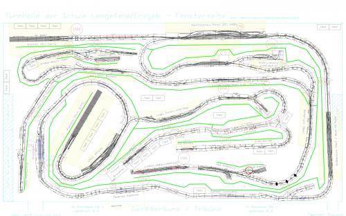 Plán modulového kolejiště v Lengefeldu