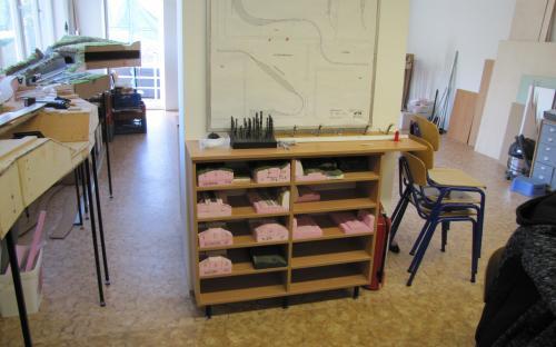 Nová skříňka pro ukládání rozpracovaných modelářských prací
