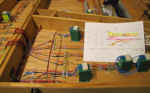 Žst. Světlá, díl Sve-01 připojení kolejových obvodů ke SPAXům S1, S2, S3