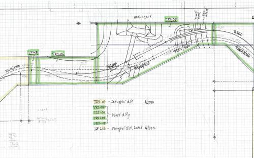 Detail plánu s díly k výrobě