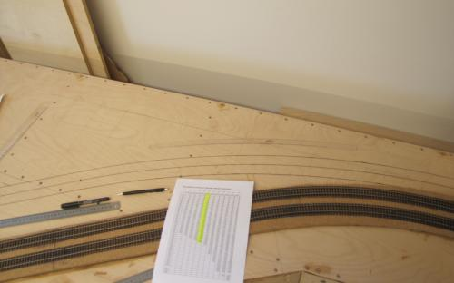 Vytyčování oblouku lokálky s poloměrem 2 m ze souřadnic na dílu Tr2-07